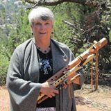 Bette With Her Native American Flutes
